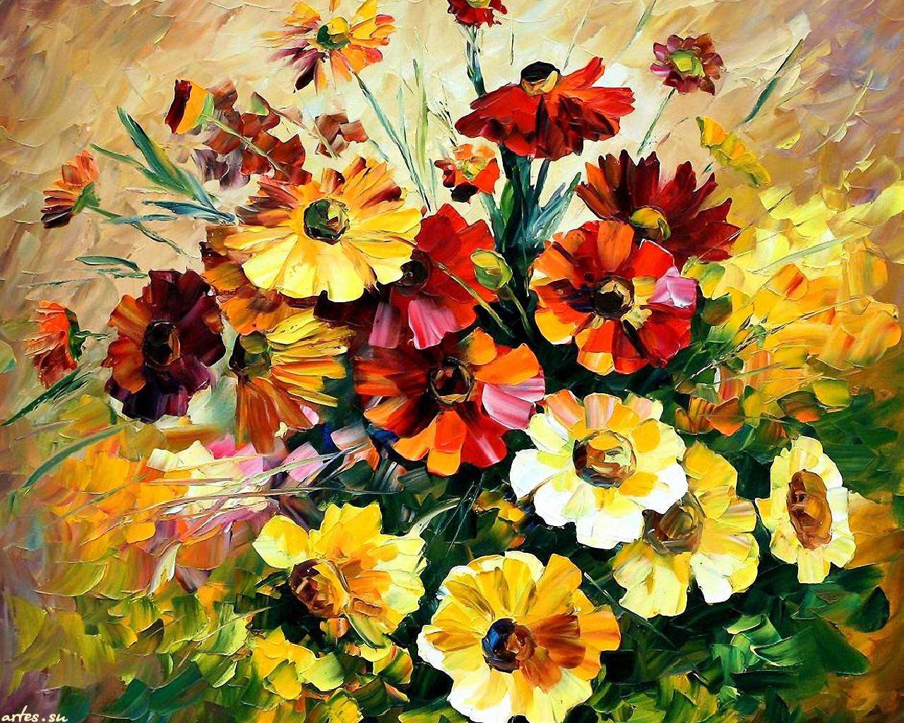 фото ярких цветов: