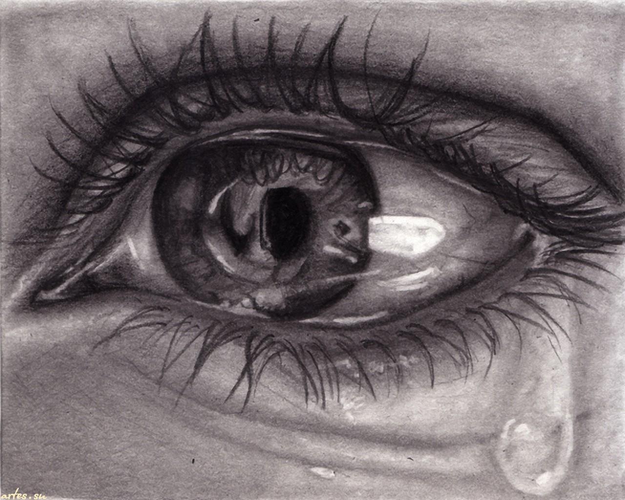 Картинки глаза со слезой